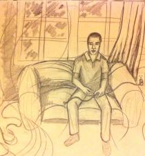 Sketch of Steven Weber